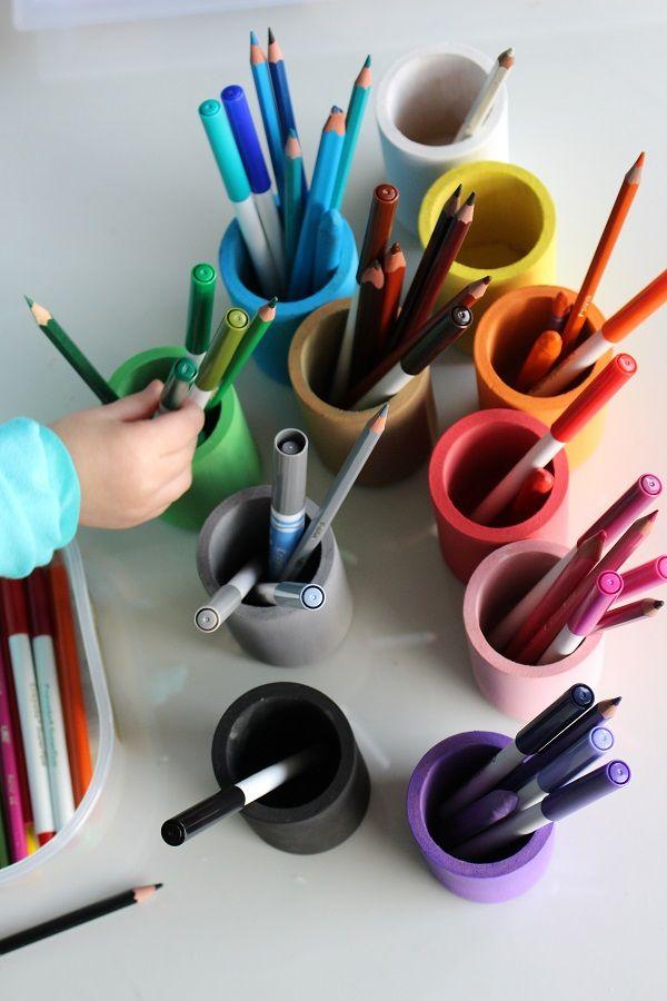 Bien connu DIY: les pots à crayons [façon Montessori | Montessori, Crayons  OW93