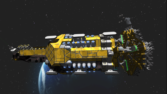 Pixeledme Mining Ship Space Engineers Space Engineers Engineering Space