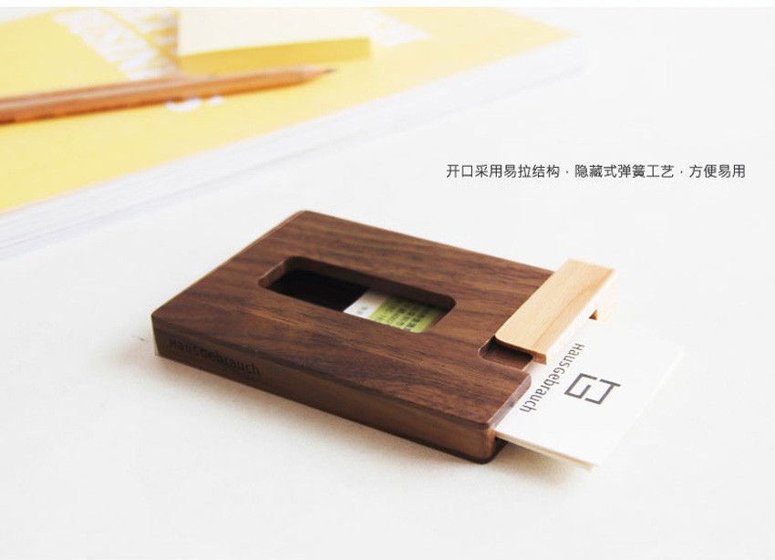 Creative Solid Wood Cardcase Business Card Holder Portable Wooden Cardfile Bank Cardbox Office Des Woodworking Business Ideas Business Card Holders Woodworking