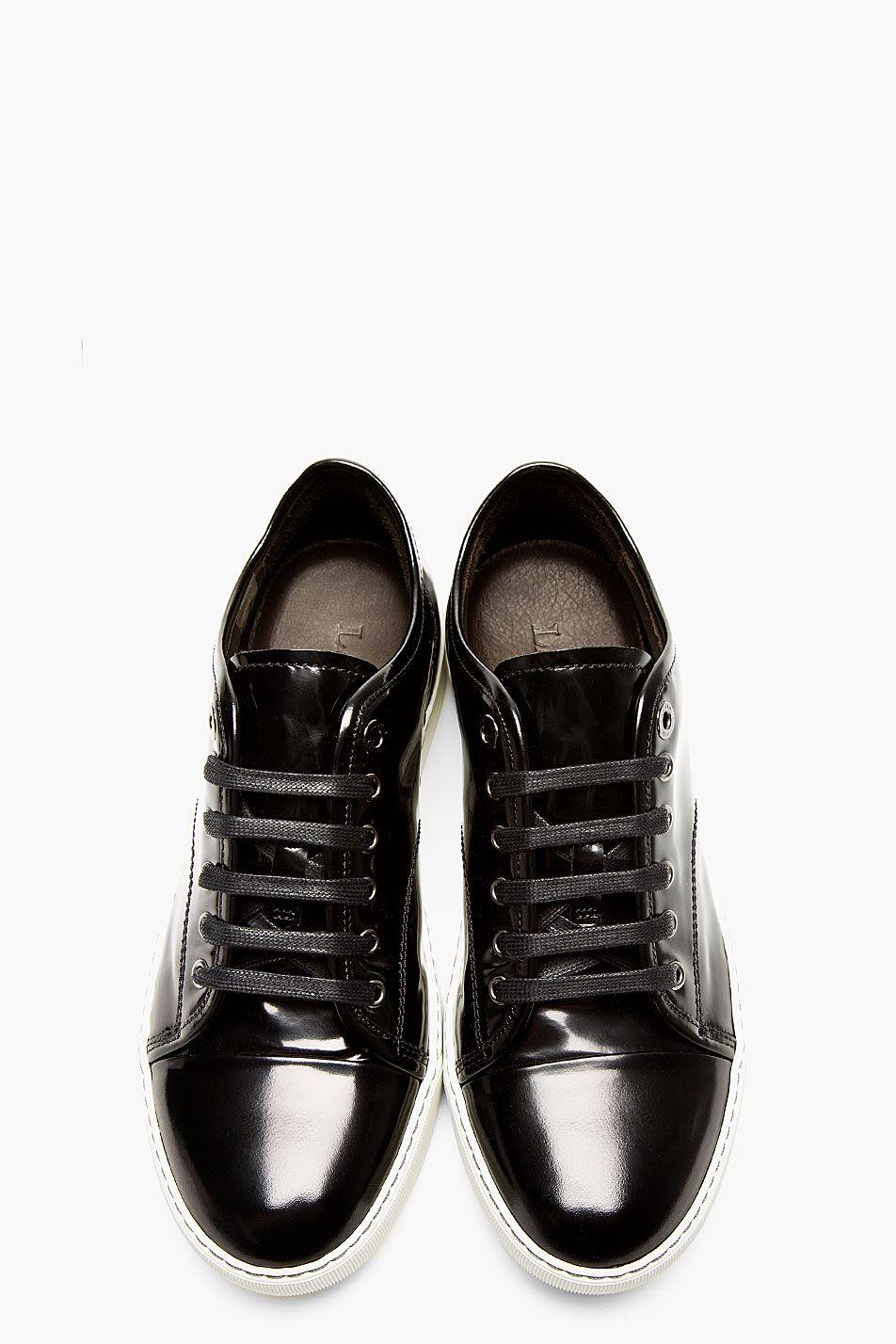 Lanvin - Black Patent Leather Low Top
