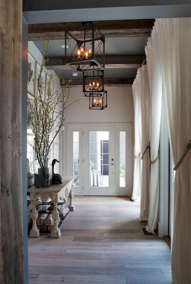 faux wood beams hall beach with antique wood beach house home rh pinterest com