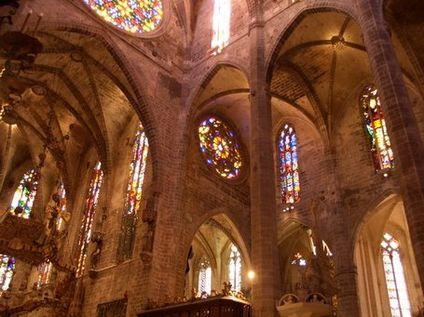 Interior de la catedral de Palma de Mallorca