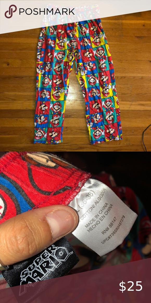 vintage super mario sleep pants