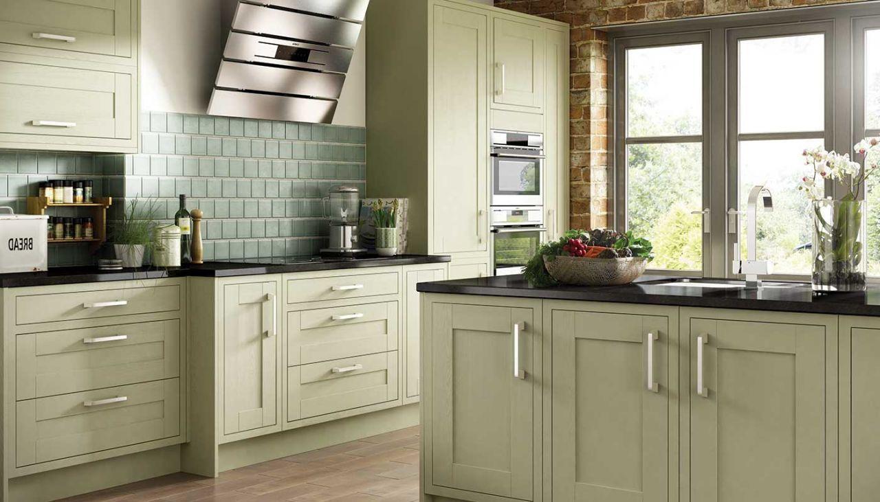 olive kitchen Olive Green Painted Kitchen 1968