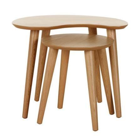 Skandi Oak Nest of Lamp Tables | Dunelm | Living room | Pinterest