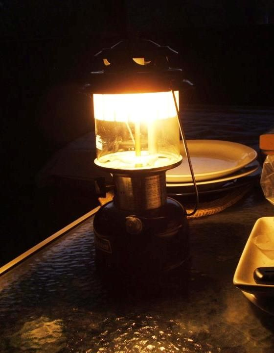 Dinner by Coleman lantern