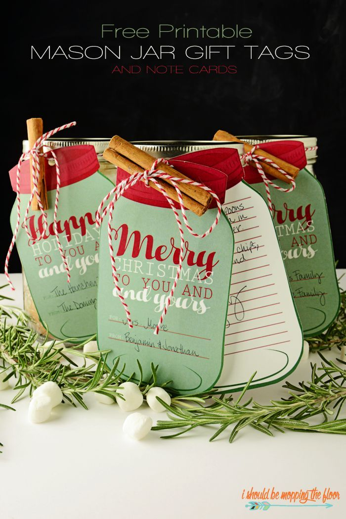 Christmas jar gifts with tags