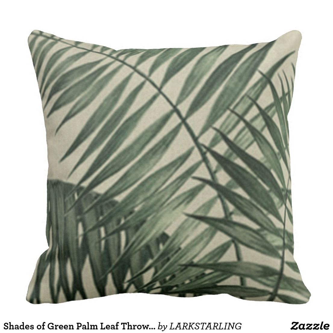 Brilliant Shades Of Green Palm Leaf Throw Pillow Zazzle Com In 2019 Ocoug Best Dining Table And Chair Ideas Images Ocougorg