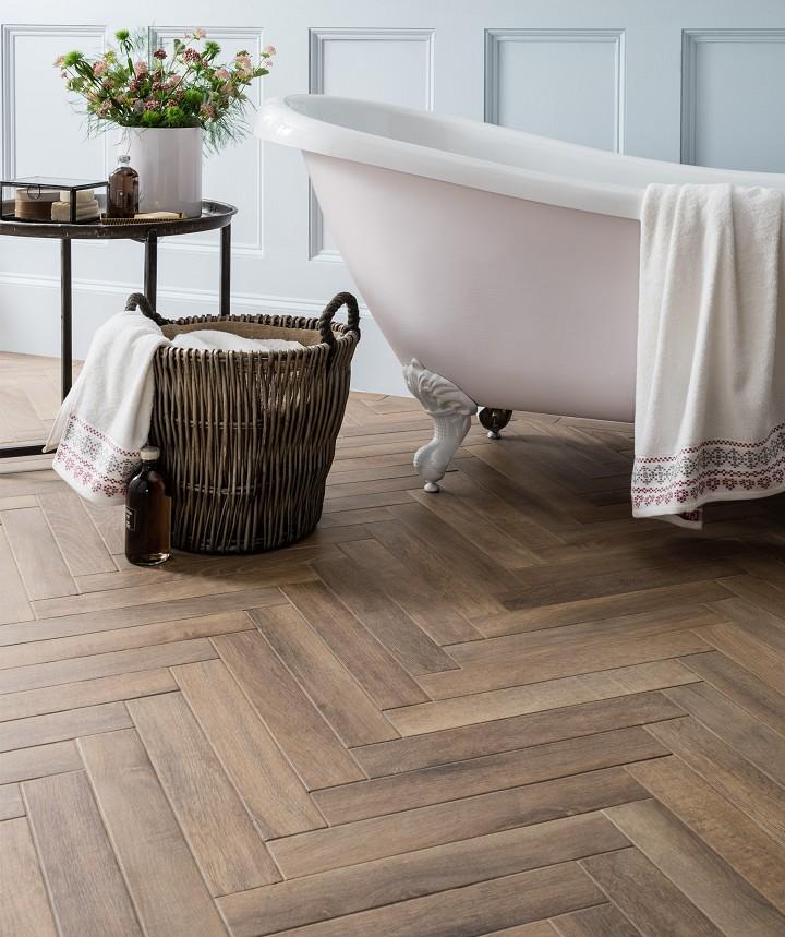 Andira™ Rural Oak Tile Wood effect tiles, Wood bathroom