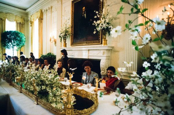 My what lovely flowers who lobbied for them floral fantasy nancy reagan expanded the use of flowers at the white house in the 80s mightylinksfo