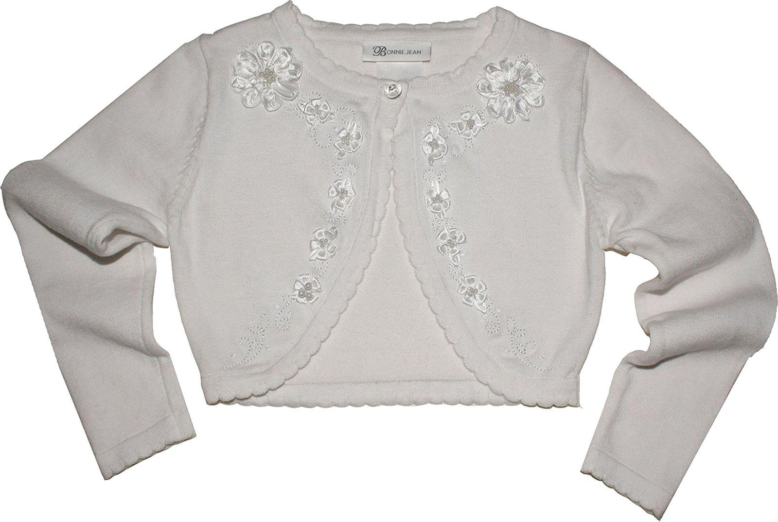 Girls Communion Cardigan Scallop Lace 7-16