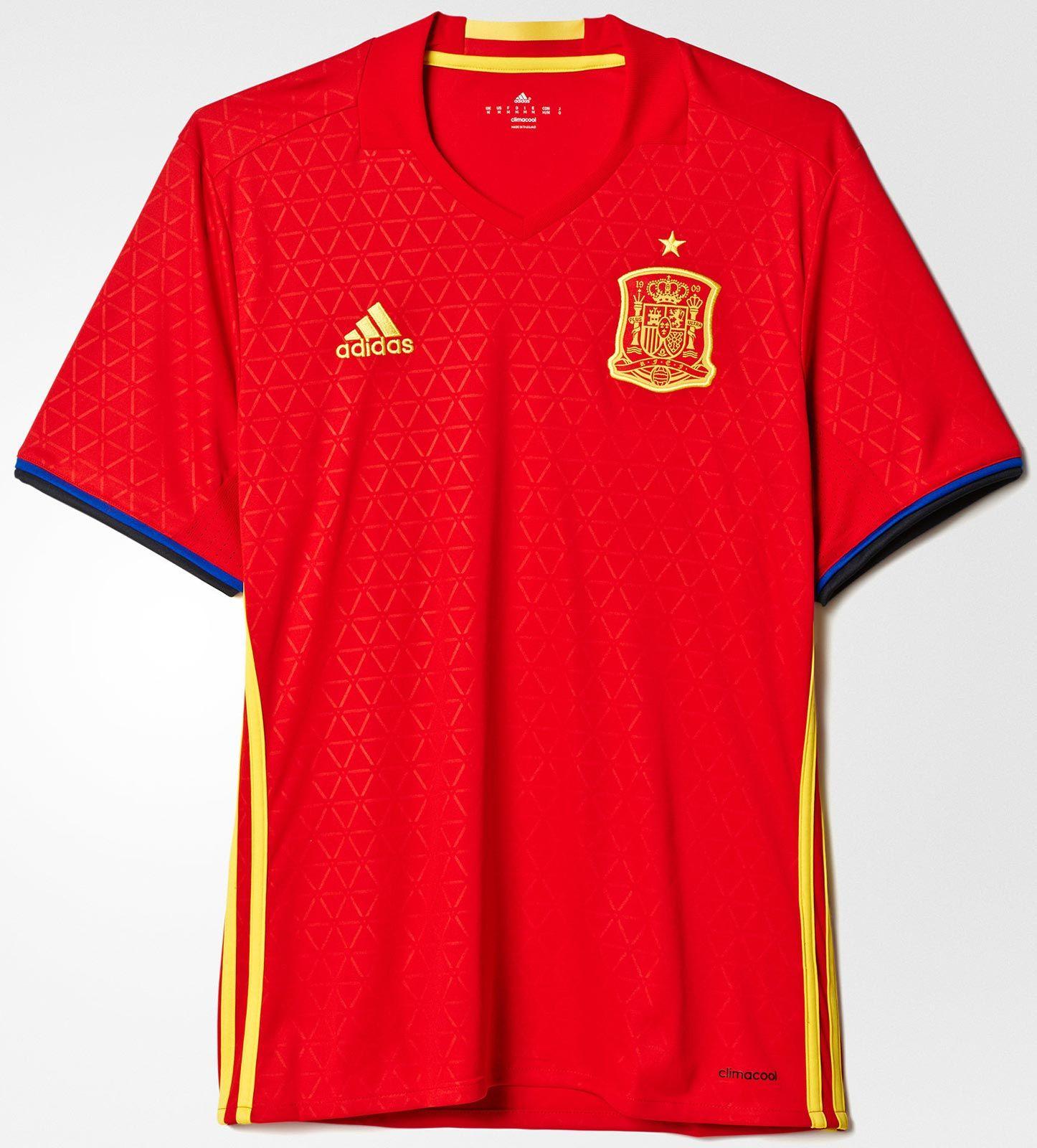 469ad75a16a46 Adidas divulga nova camisa titular da Espanha - Show de Camisas ...