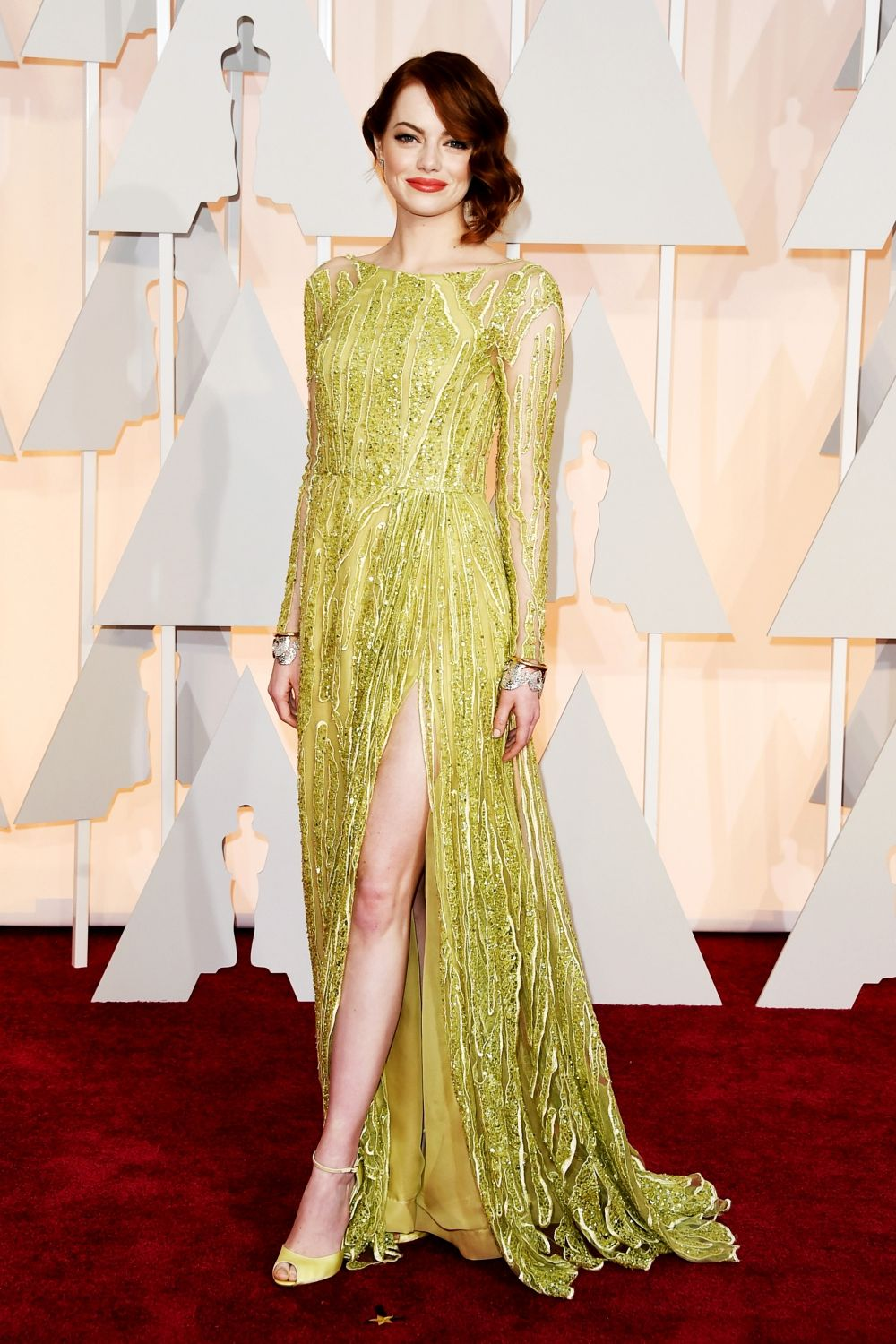 Emma Stone in Elie Saab Haute Couture at the 2015 Oscars