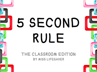 Giveaway 5 Second Rule The Classroom Edition Classroom Middle School Classroom Management Teacher Classroom