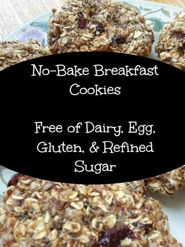 TessaMcKnight No Bake Organic Breakfast Cookies Free Of Gluten Dairy