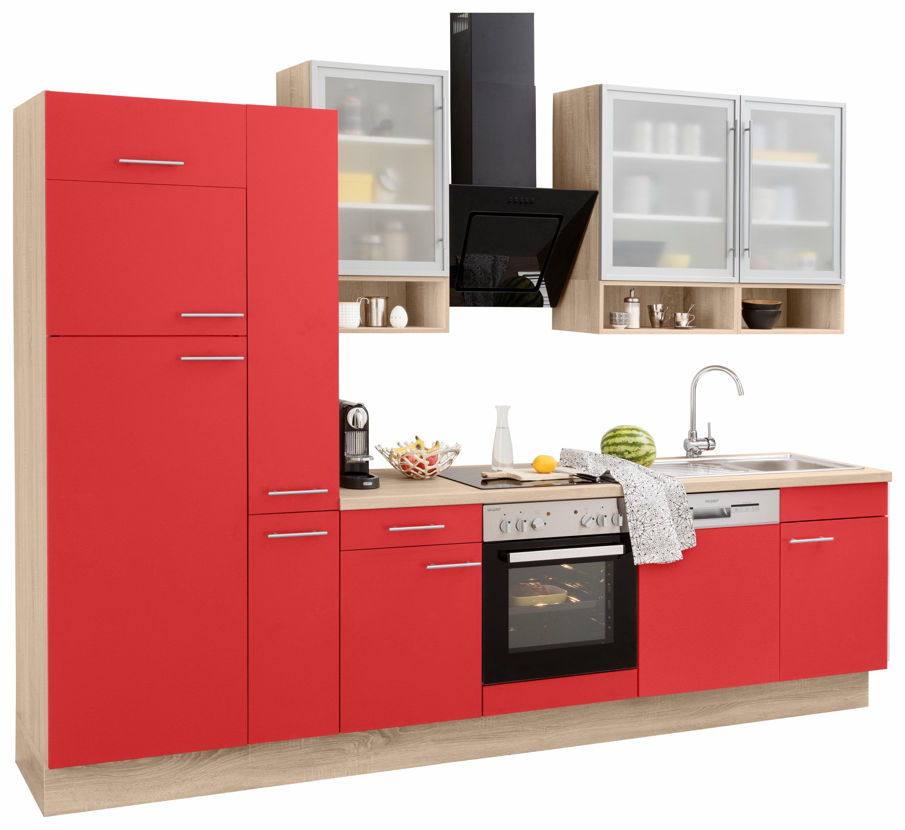 Wunderschön Küchenzeile Mit Geräten Das Beste Von Optifit Küchenzeile E-geräten Rot, Ervice, »aueÂ«, Schubkästen