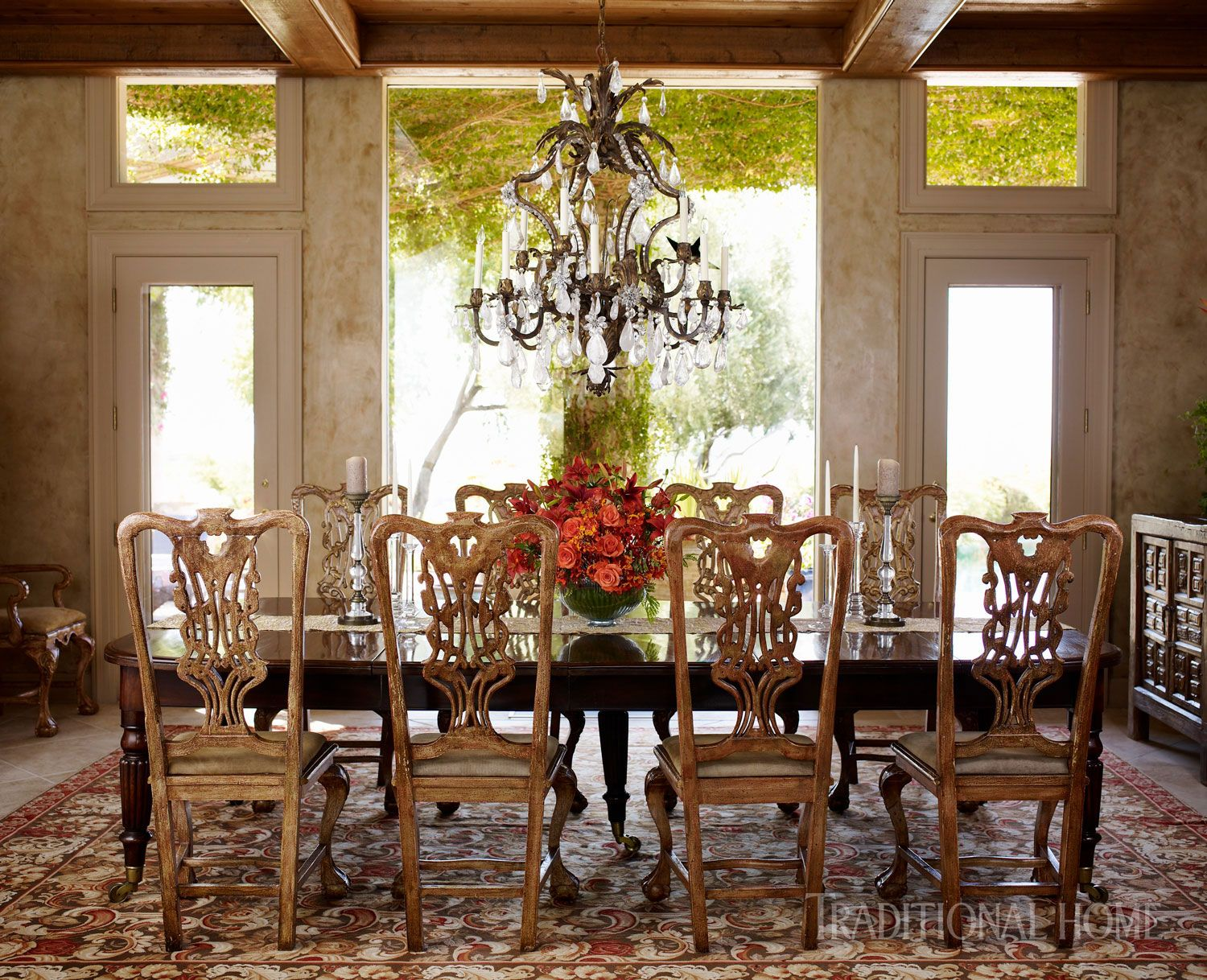 Lighting Ideas Rock Crystal Chandelier and Mexican