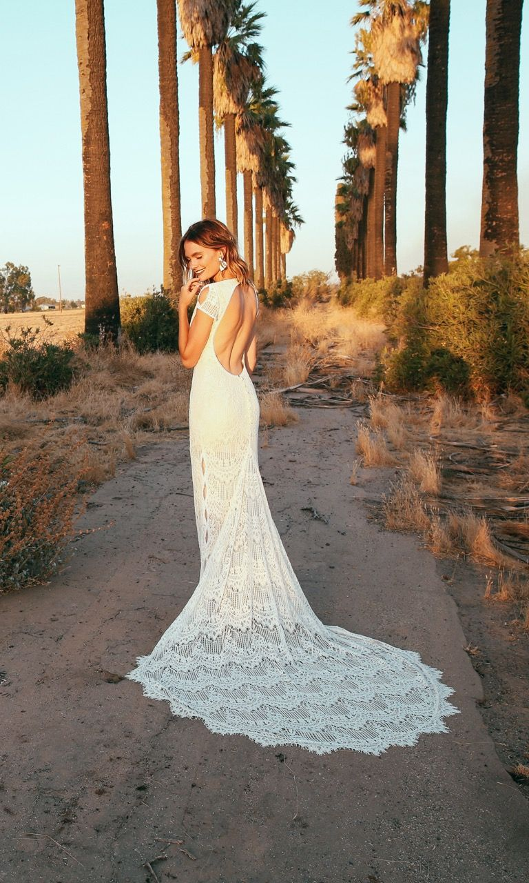 Lace hippie wedding dress  Ronan  Daughters of Simone