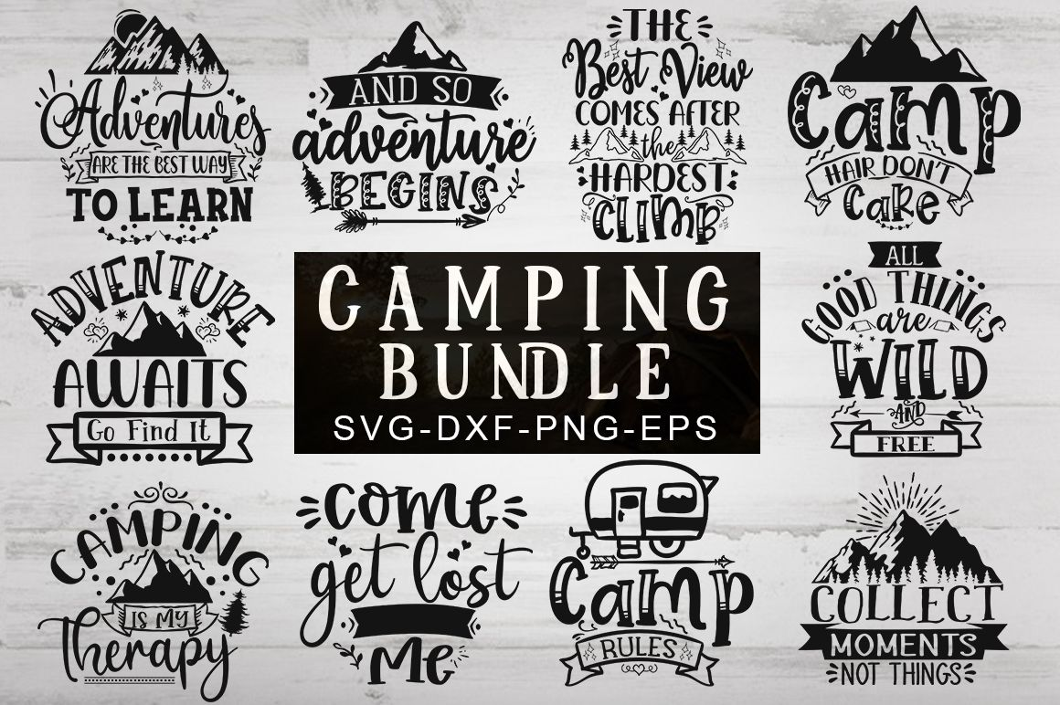 Download Camping Bundle in 2020   Svg, Print templates, Vinyl decal ...