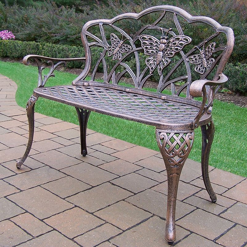 butterfly cast aluminum outdoor bench products rh pinterest co kr