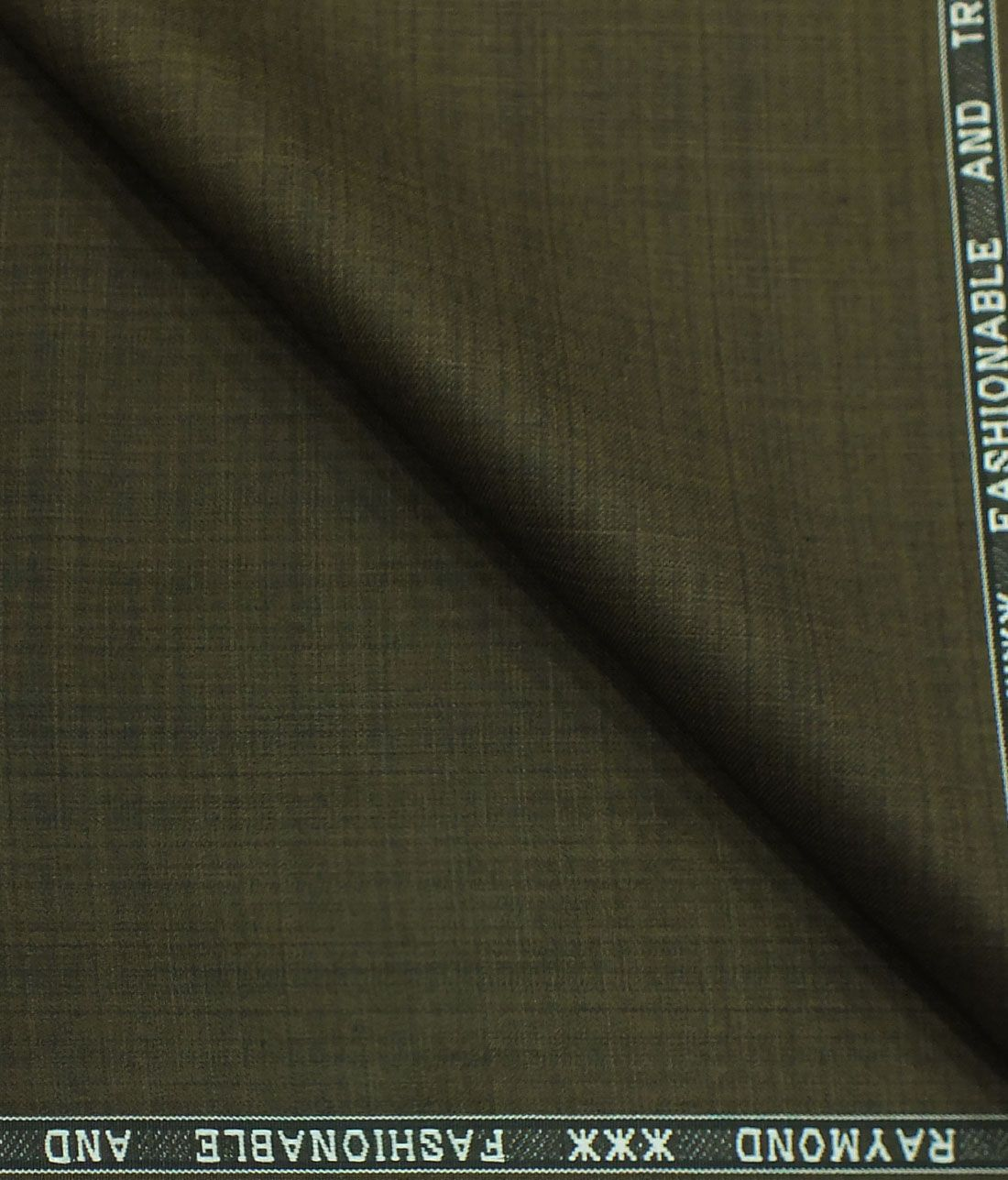 04ac7499c Raymond Dark Coffee Brown Self Design Poly Viscose Trouser or 3 Piece Suit  Fabric (Unstitched - 1.25 Mtr)