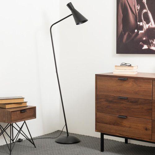 moderne stehleuchte leselampe harris aus metall im minimalistischen scheinwerfer stil schwarz. Black Bedroom Furniture Sets. Home Design Ideas