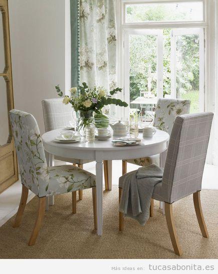 Ideas para la decoraci n de un comedor sillas flores for Muebles comedores pequenos
