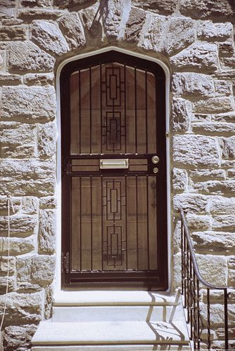 HM 111 Cathedral Arch Top Security Storm Door