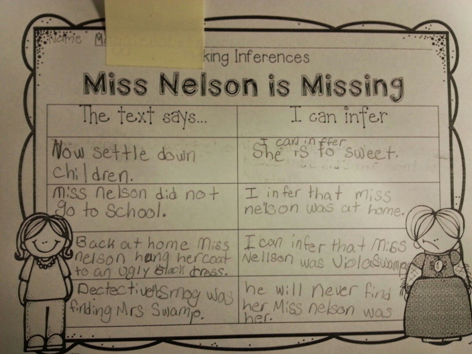 Making Inferences Using Mentor Texts