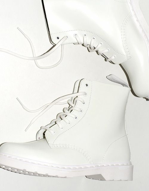 White combat boots, Boots, White dr martens