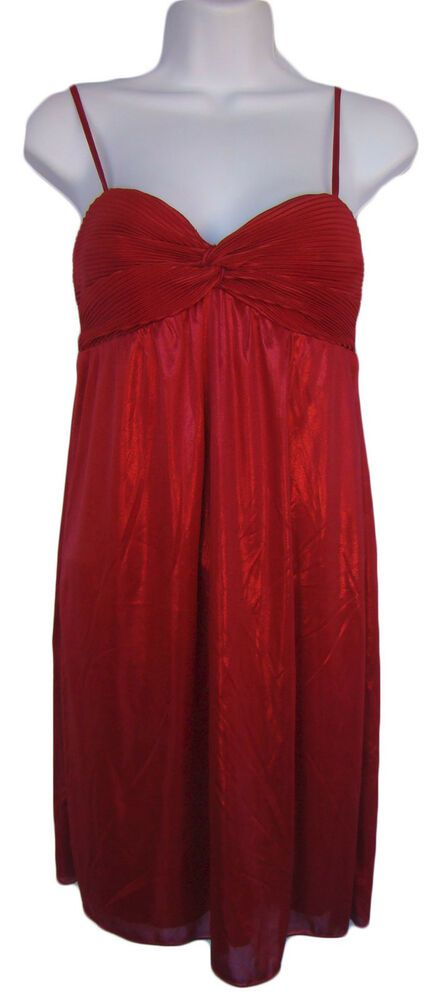 55de109e CITY TRIANGLES Size S Red Shimmery Cocktail Party Dress NWT CLEARANCE!  #affilink