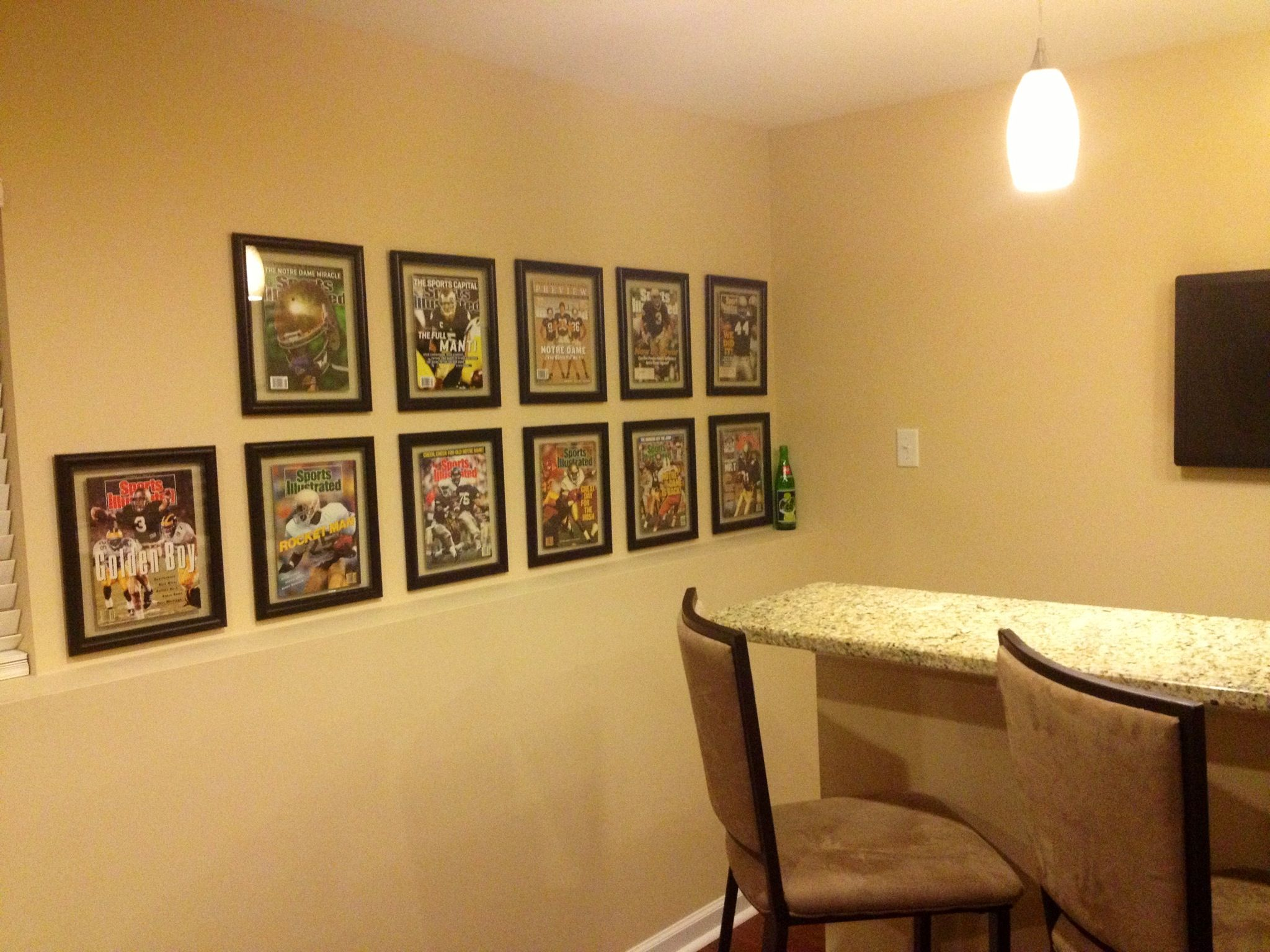 Notre Dame Man Cave Ideas : Notre dame fighting irish mancave sports illustrated in