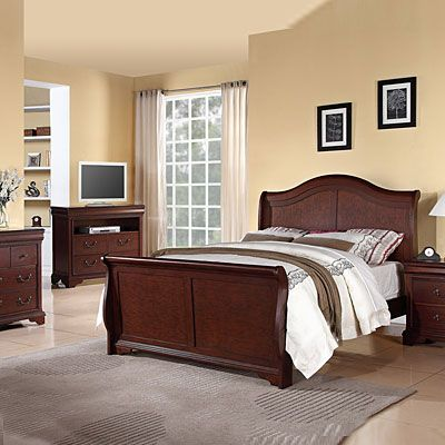 Beautiful Cherry Veneered Bedroom Set Dovetail Drawer Joints - Bedroom furniture with lots of storage