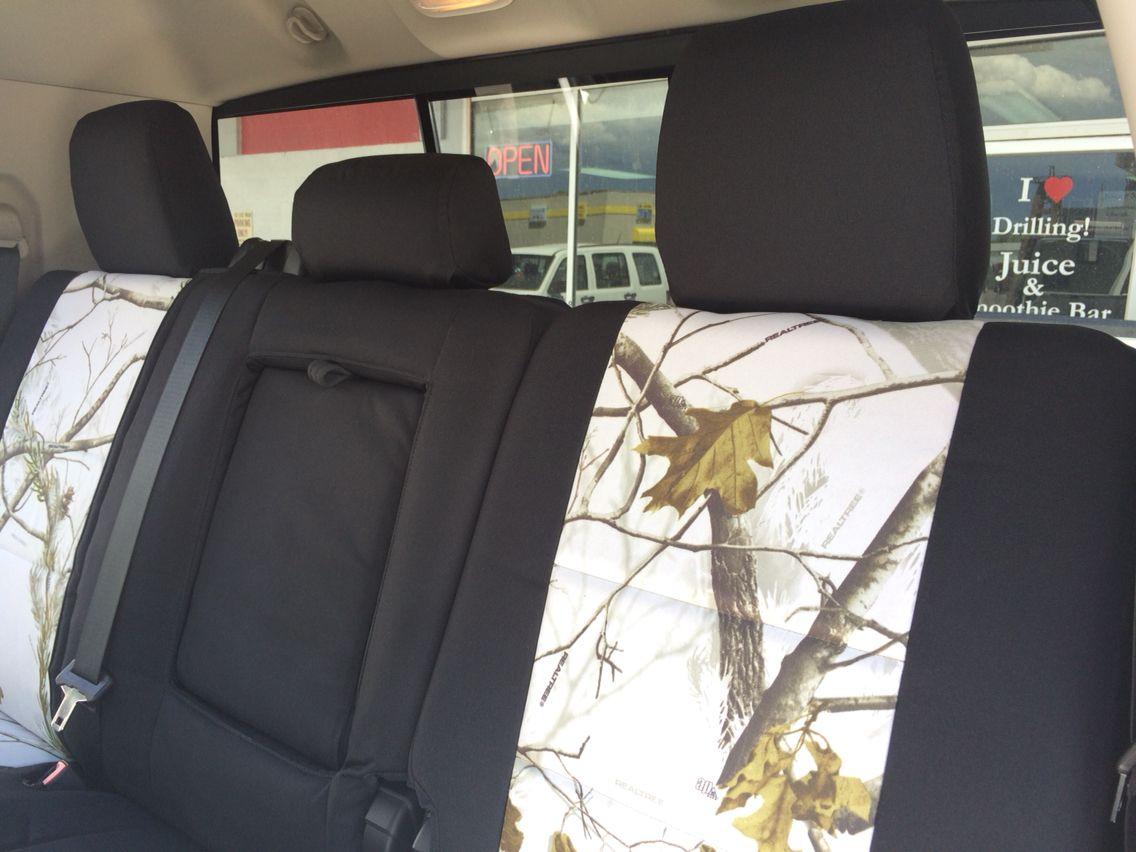 2013 Dodge Ram 2500 Mega Cab Rear Seat Realtree Snow Sport