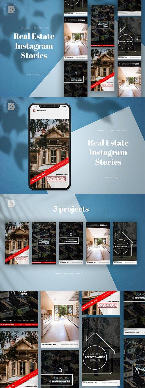Real Estate Instagram Stories Social Media Templates Free Psd Templates Instagram Stories Social Media Social Media Template Real Estate