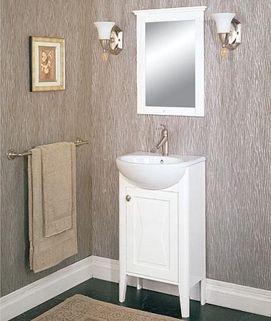 Fairmont designs tuxedo 102 v20 20 inch vanity sink - Bathroom vanity and mirror combo ...