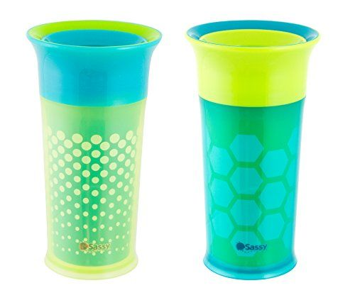 Sassy Insulated Cup 9oz Green 2pk Read More At The Image Link Note It Is Affiliate Link To Amazon Best Baby Bottles Toddler Sippy Cups Insulated Cups