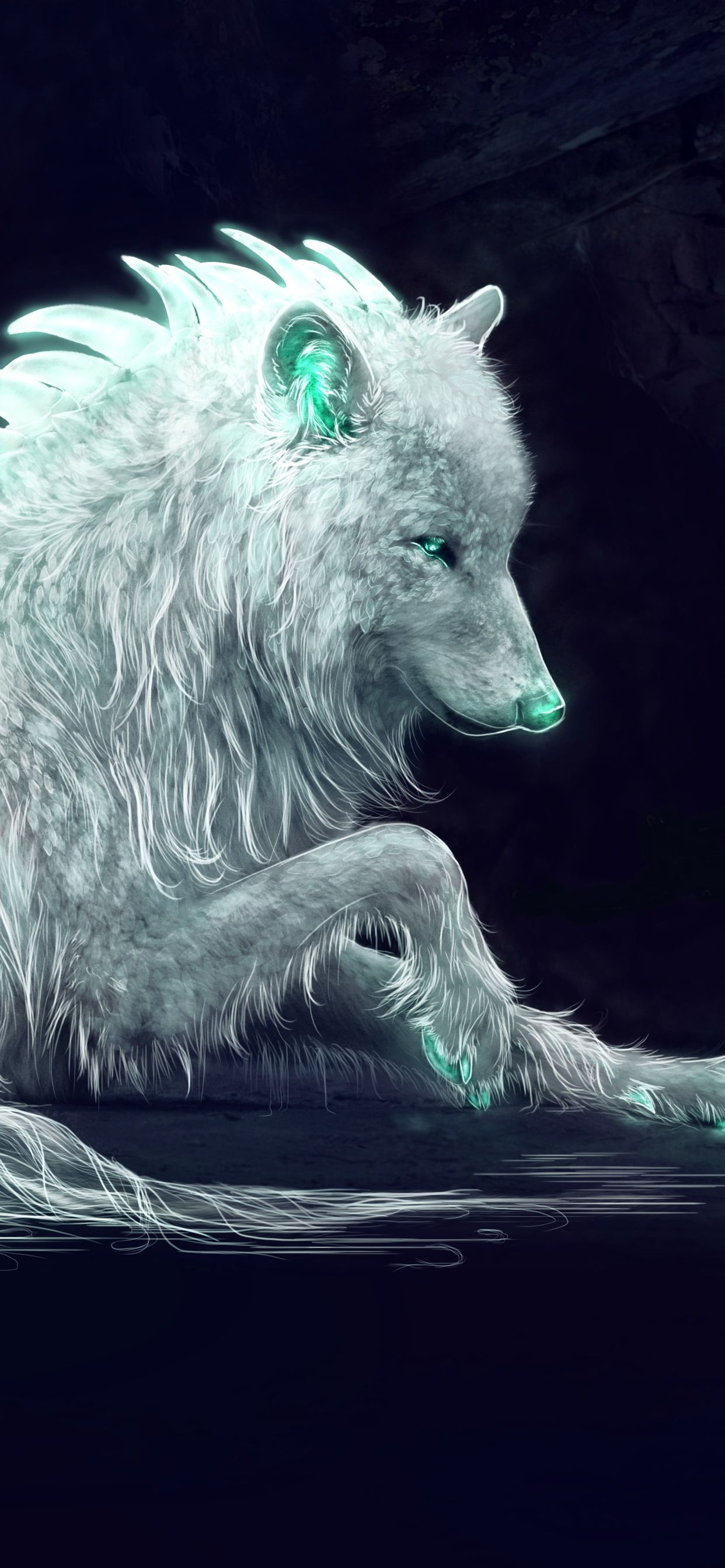 Iphone Xs Max Wallpaper Wolf Wolf with blue eyes
