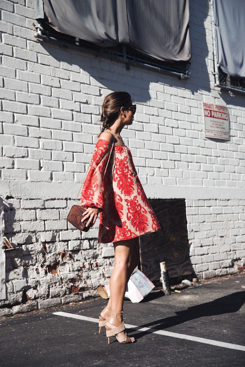 For_Love_And_Lemons-Off_Shoulders_Dress-Alexander_Wang-Lace_Up_Sandals