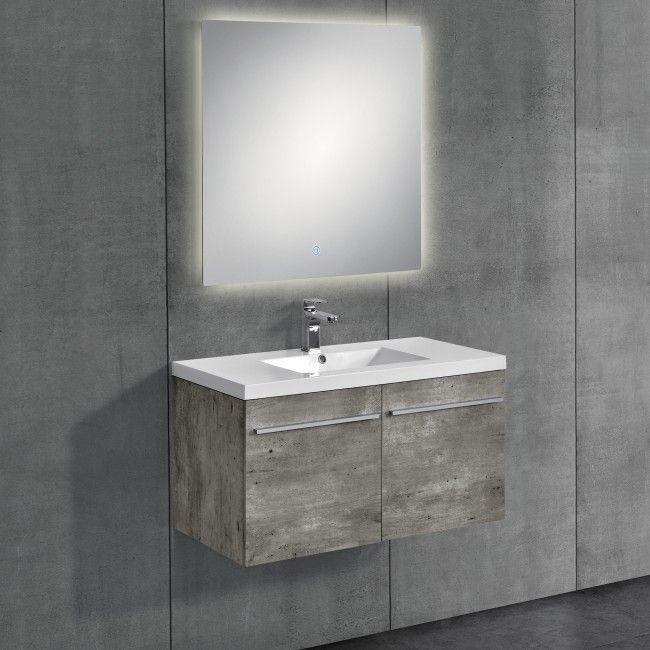 [neu.haus] Badezimmerschrank mit Waschbecken und Spiegel