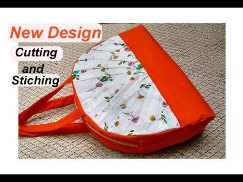 8ccbcaf05df6 EASY... cutting stitching of handmade handbag  shopping bag   mini travel  bag with zipper - YouTube