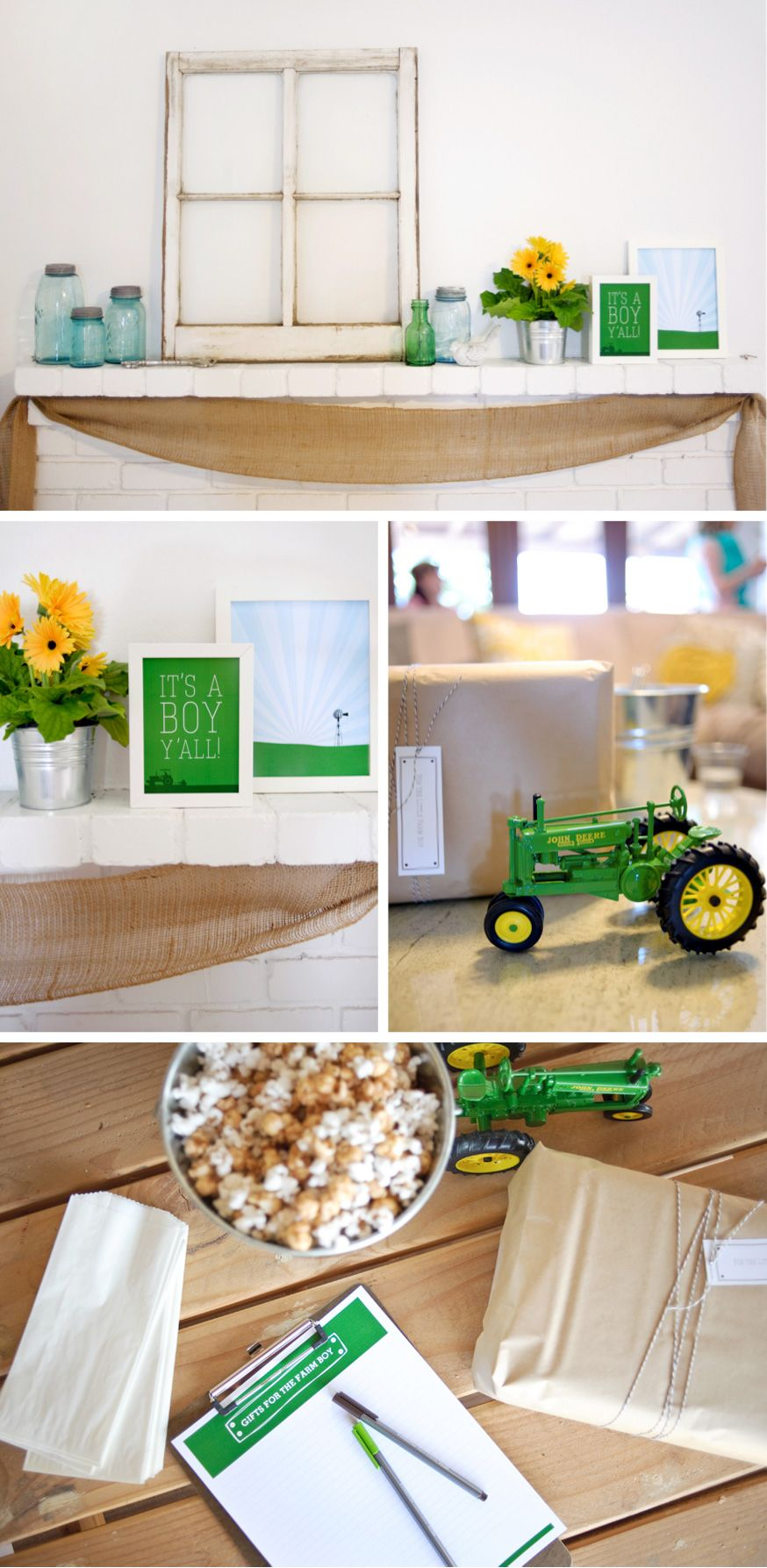 Farm Boy Baby Shower Ideas & Baby Gear Essentials Boy