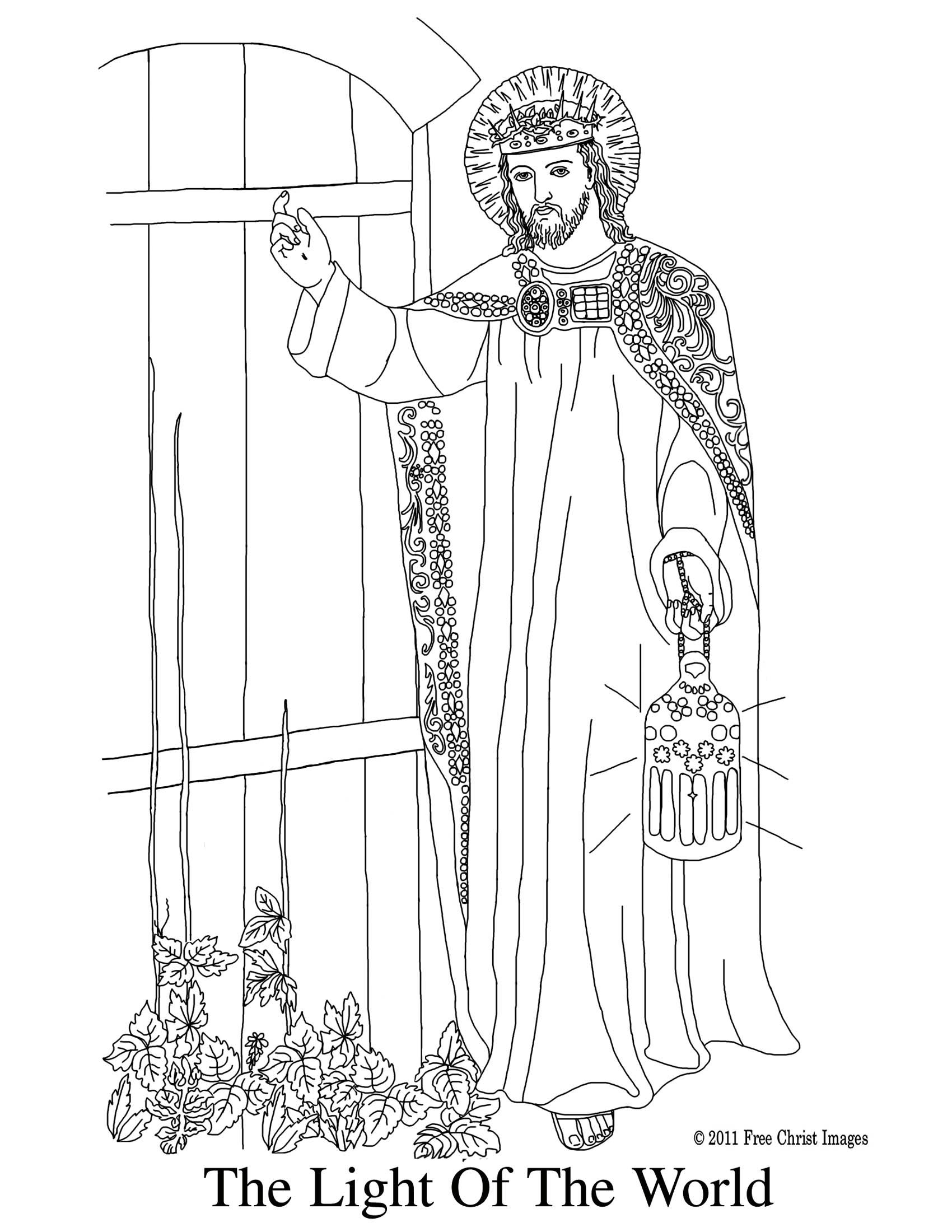 Jesus is the light of the world-Coloring Page (With images
