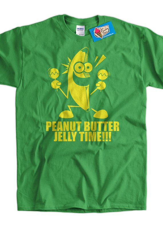 c71757074 Funny T-Shirt Geek T-Shirt Banana Peanut Butter Jelly Time T-Shirt Gifts  for Dad Screen Printed T-Sh