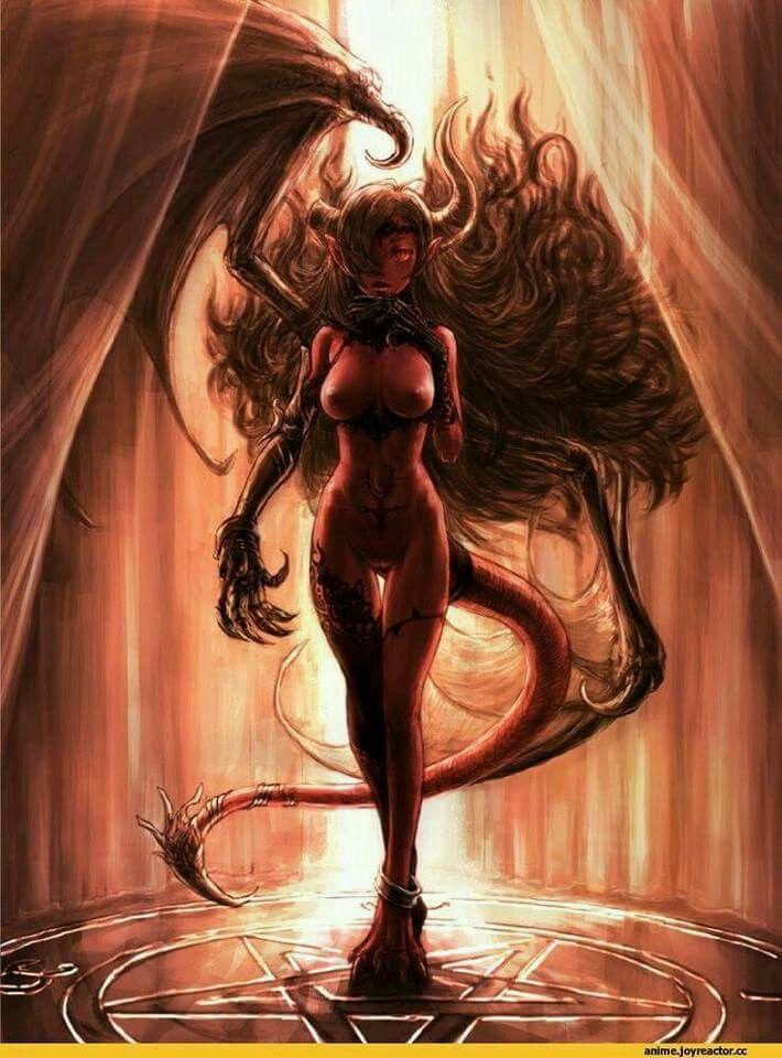 Fantasy nude demon girls