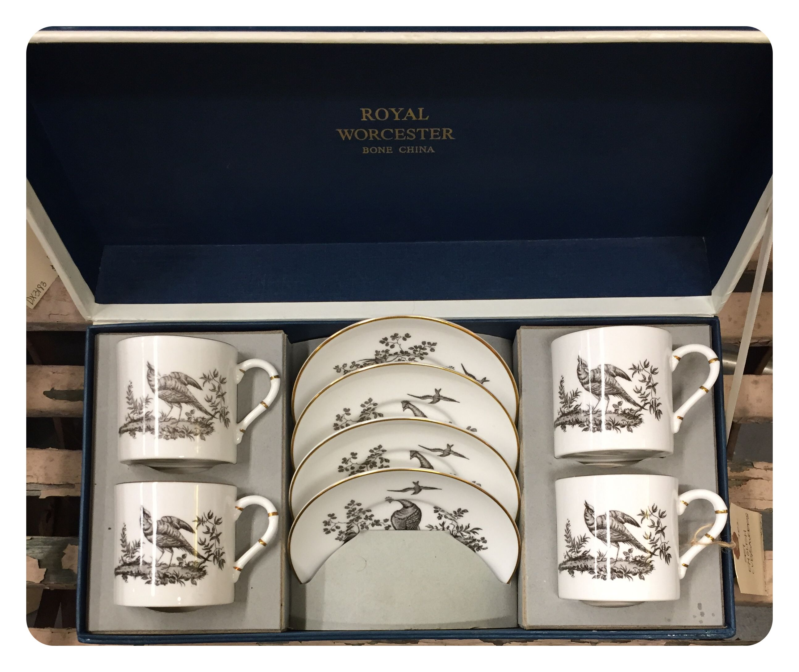 Set of English cup and saucers, $69.  Gaslamp Antiques Too, booth T702.