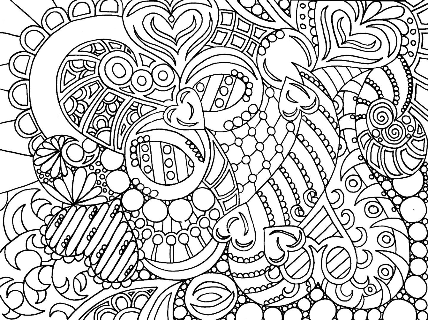 free printable coloring pages for adults advanced | Just Colorings ...