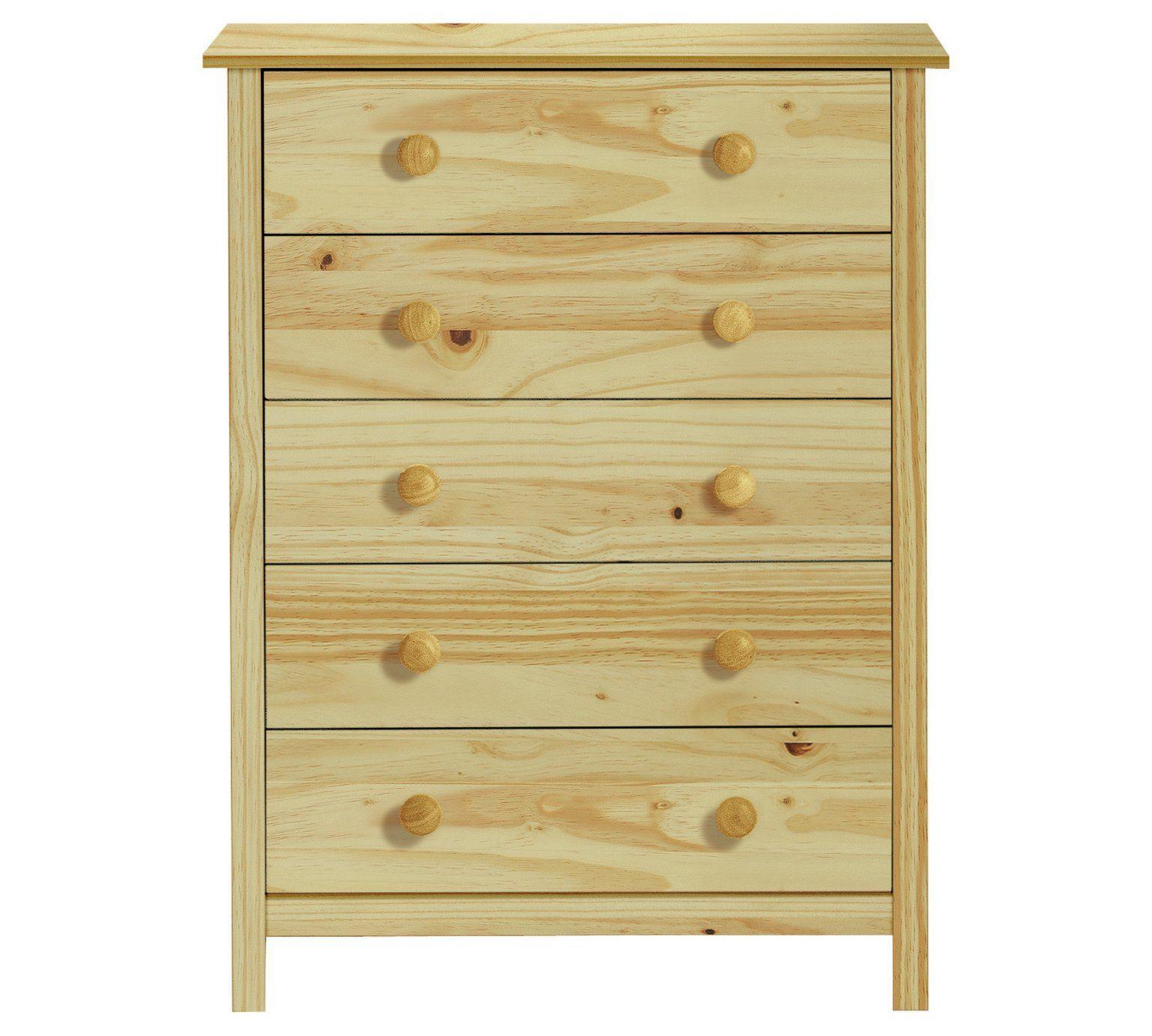 Buy Argos Home Scandinavia 5 Drawer Chest Pine Chest