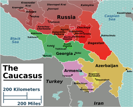 Caucasus Geographically It Is Usually Considered Part Of Western - Nalchik map