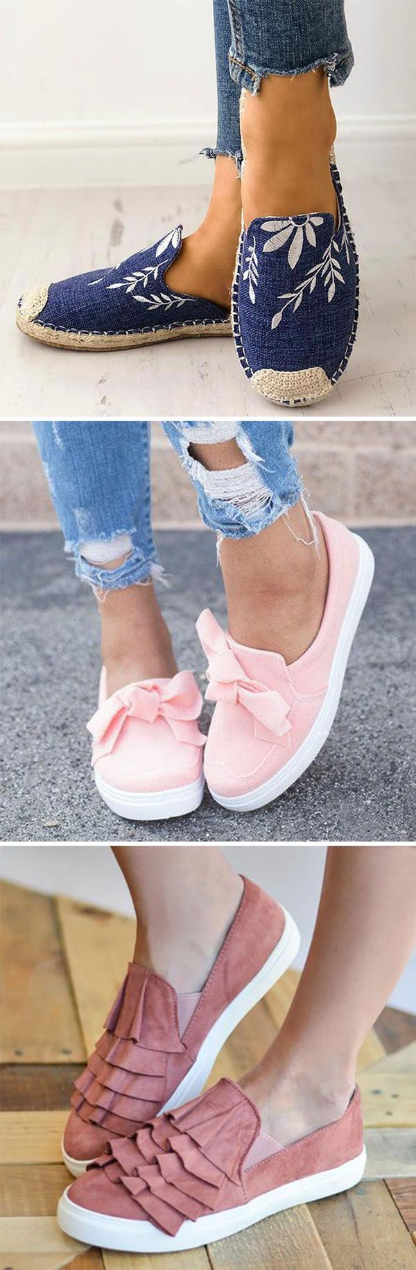 49f686f53f Hot Sale!Women Nubuck Loafers Casual Bowknot Shoes | clothes ...